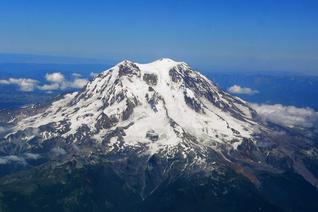 Aerial view of mount Rainier
