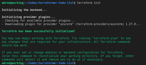 Development Workspace with Terraform on Azure: Part 1 – Install and